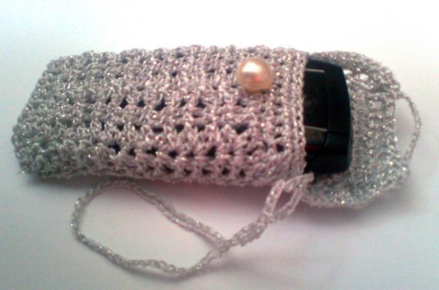 Голубки Вязание, Вязание крючком: Чехол для телефона и кошелек вязаные.