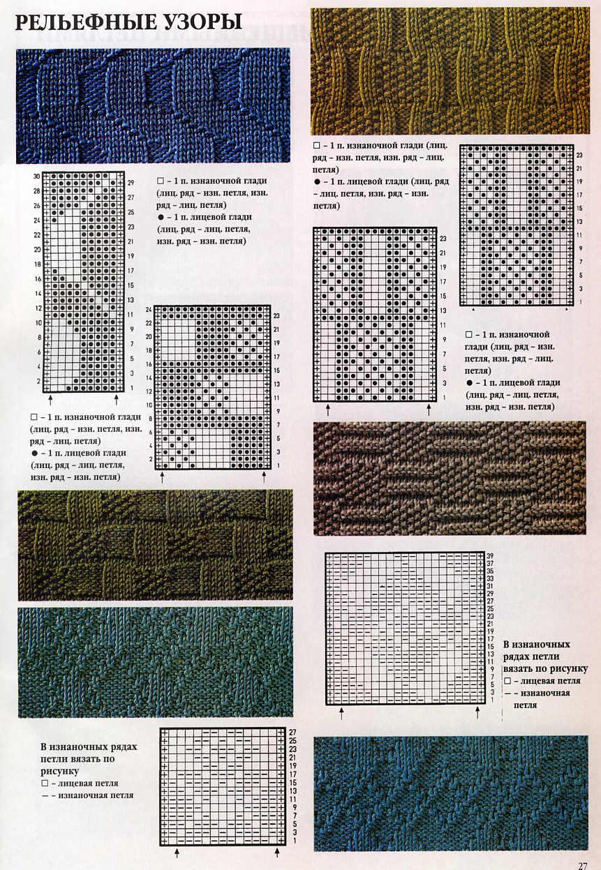 Простой шарф спицами с описанием схемы